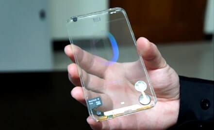 Patente da Samsung revela planos de smartphone com duas telas transparentes
