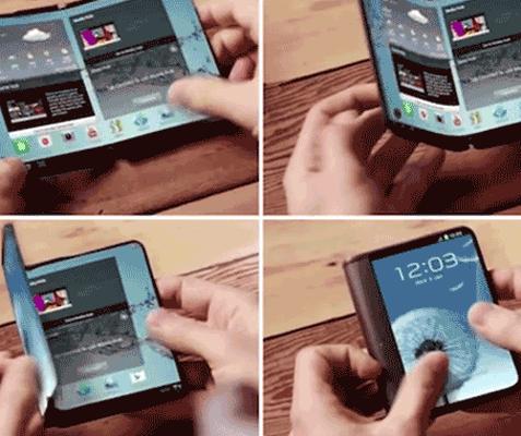 Samsung desenvolve smartphone com tela dobrável