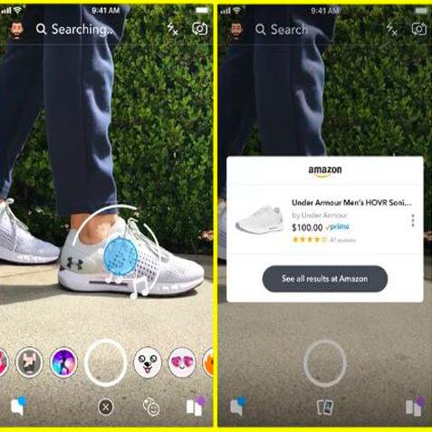 Snapchat testa ferramenta que permite usar a câmera do celular para fazer compras na Amazon